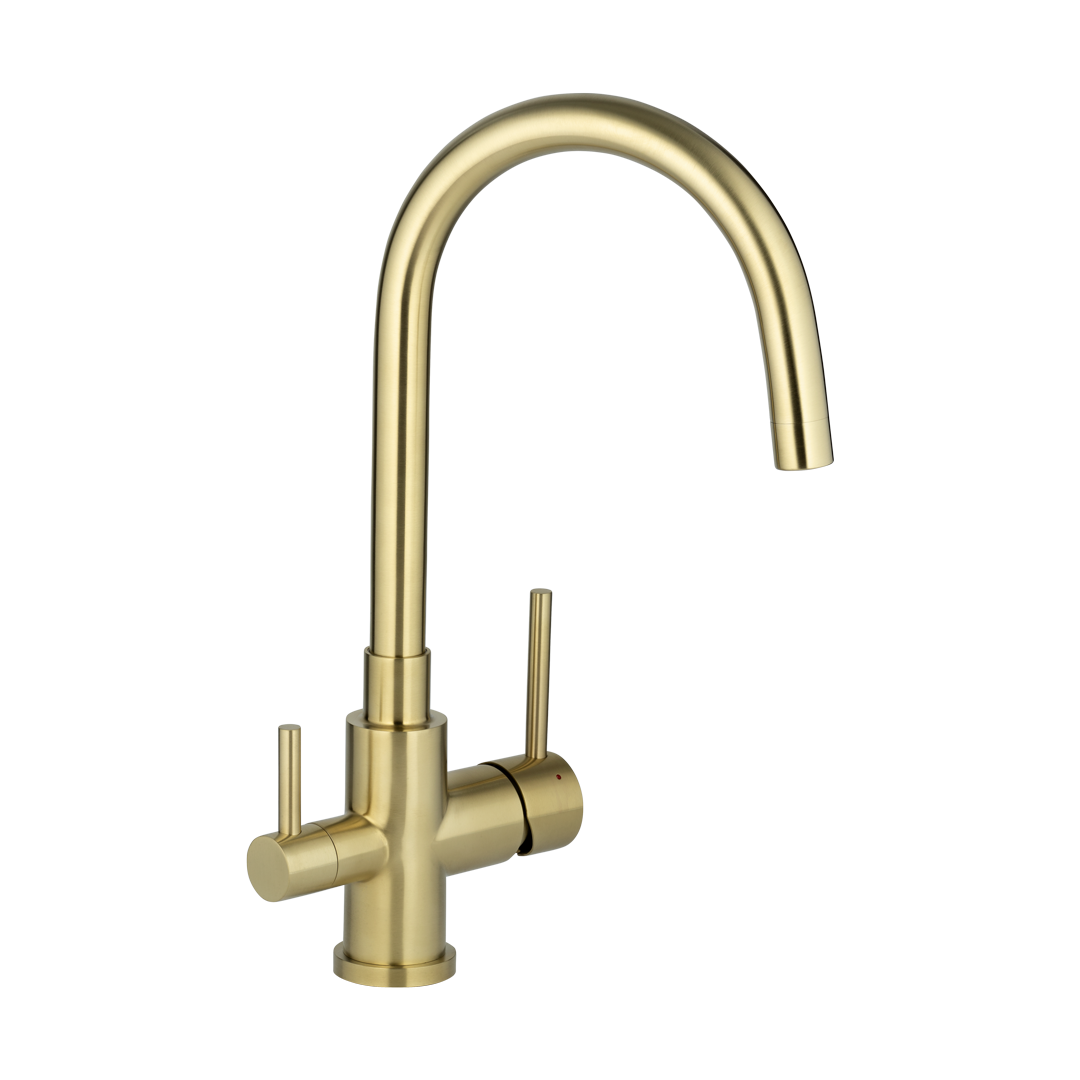 Elysian Commercial 3 Way Filter Tap – Brushed Brass
