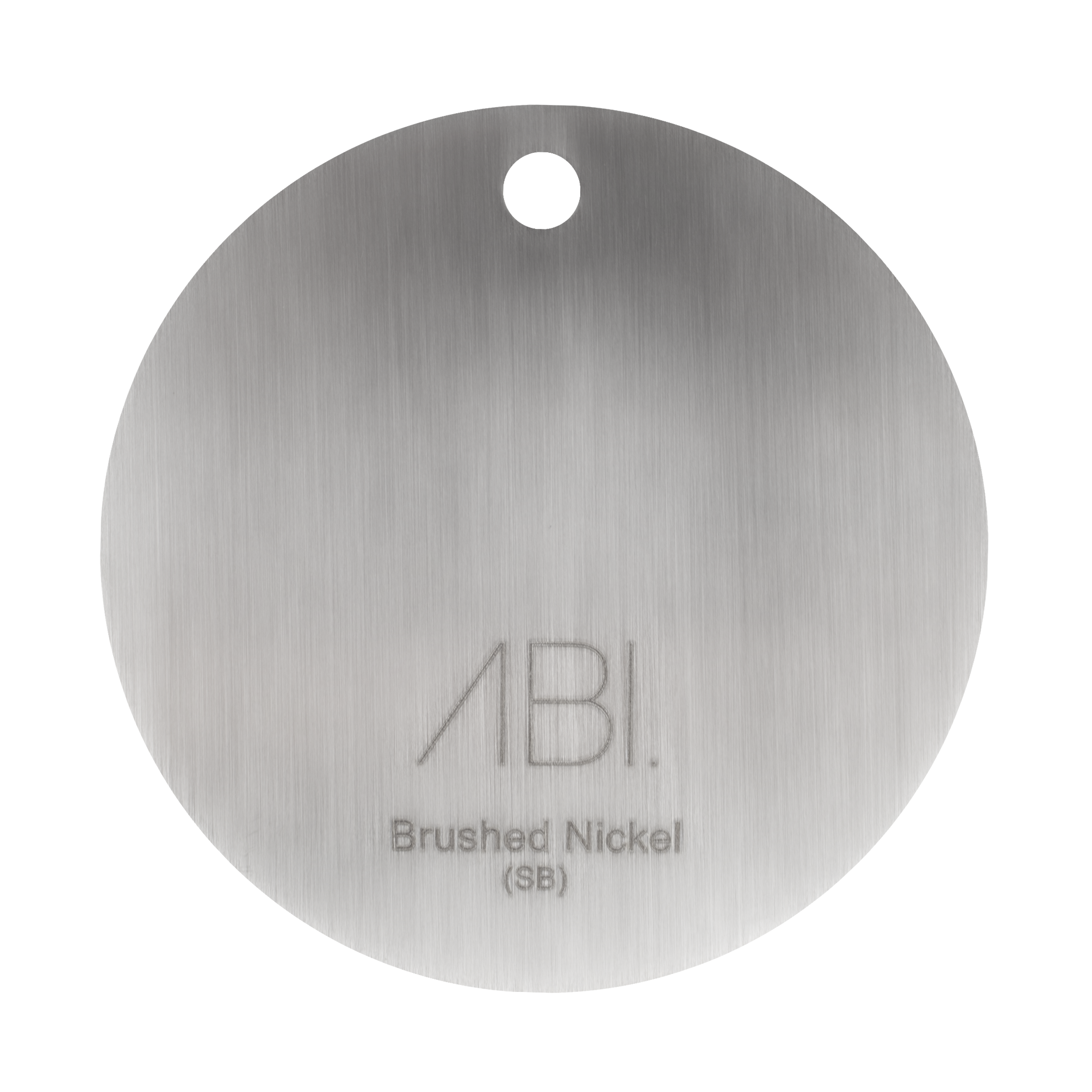 Colour Sample – Brushed Nickel (PVD) – Solid Brass