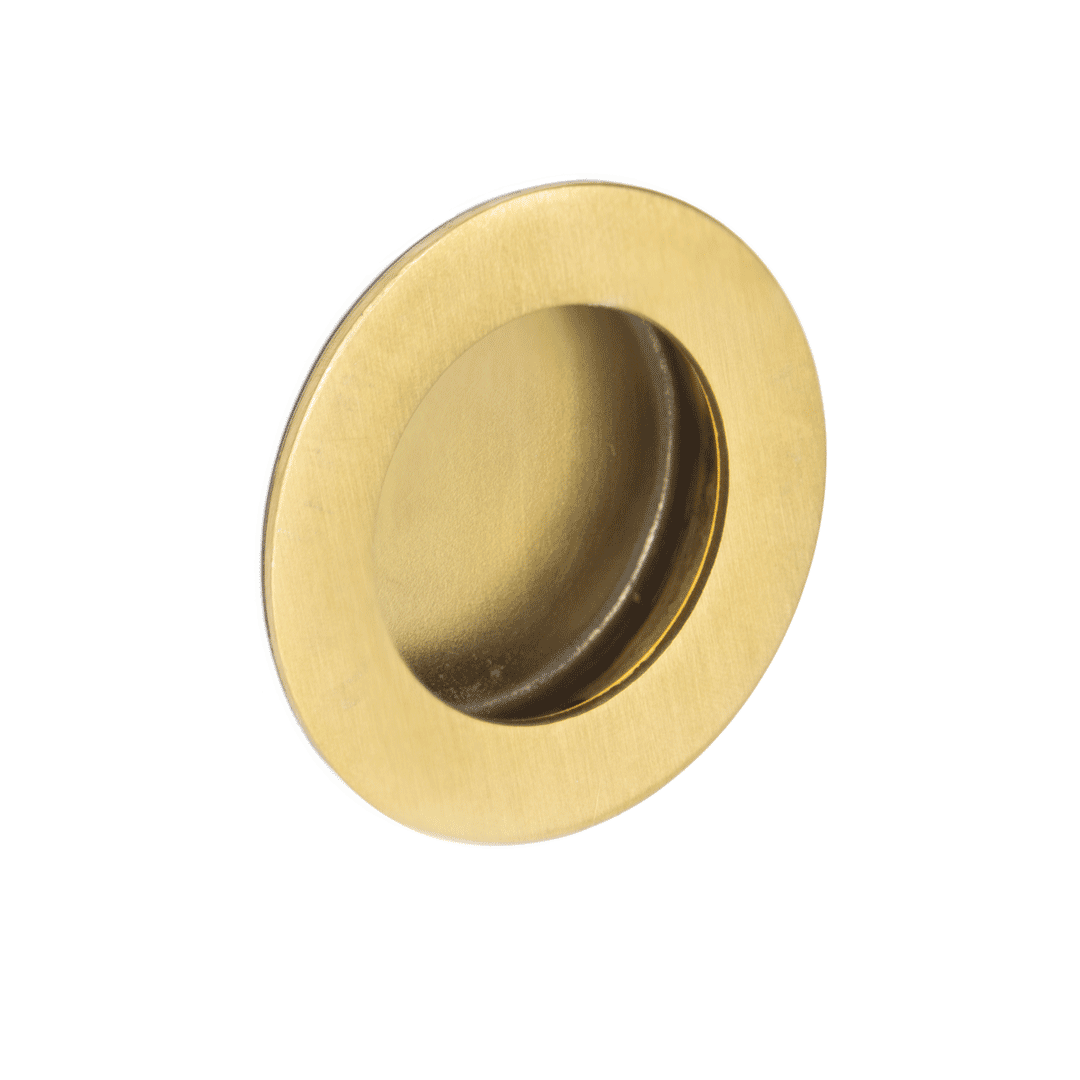 Atley Flush Pull Handle Round – Brushed Brass
