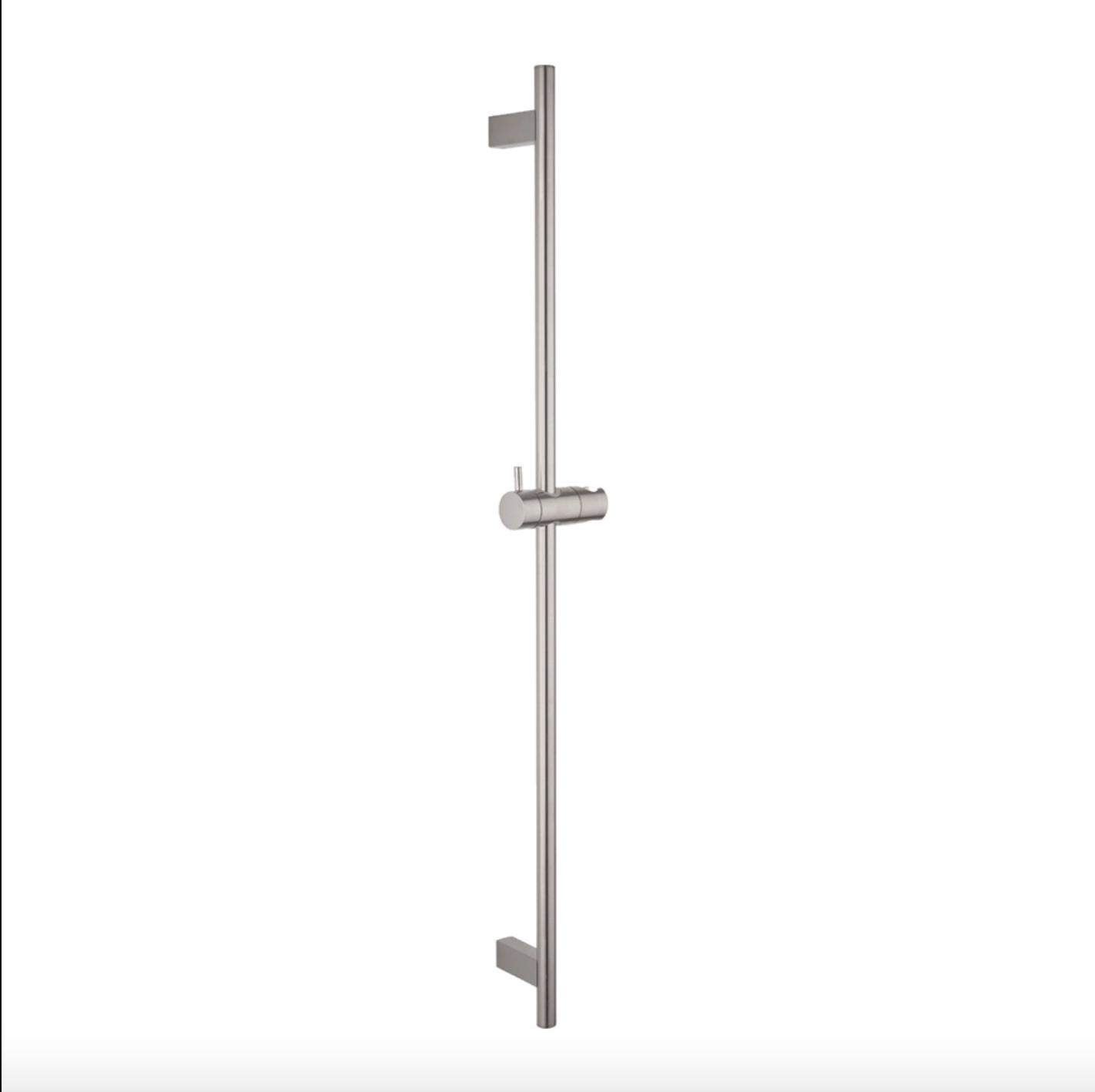 Ryla Round Shower Rail – Brushed Nickel