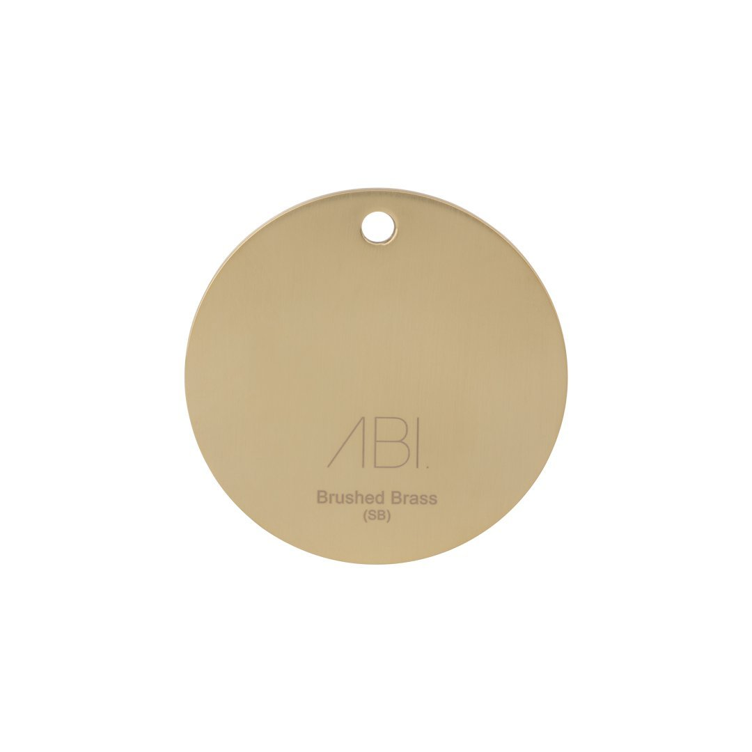 Colour Sample – Brushed Brass (PVD) – Solid Brass