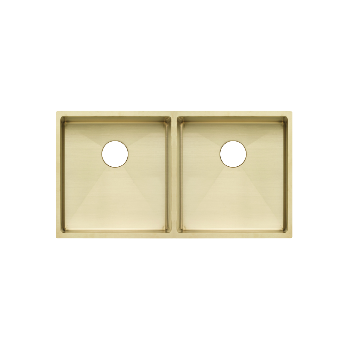Zalo Kitchen Sink Double 855mm with Racks and Overflow – Brushed Brass